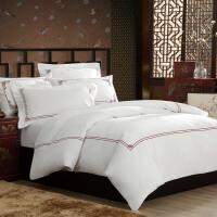 康尔馨 床单被套四件套纯棉 80支全棉贡缎床品 五星级酒店总统房