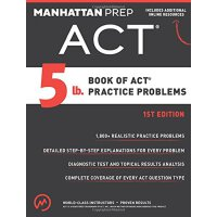 5 lb. Book of ACT Practice Problems 【英文原版】ACT实践操作