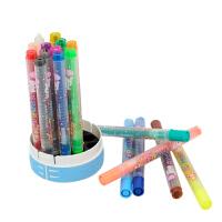 爱好 68021-18不脏手旋转油画棒18色(蓝色桶装)盒装大容量油画棒旋转蜡笔 儿童绘画涂鸦彩笔粗杆画材 当当自营
