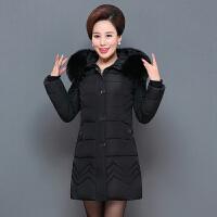 中老年冬季棉袄外套女中长款中年妈妈冬装棉衣40岁50加厚羽绒