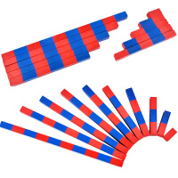 儿童数学教具家庭版红蓝数棒长棒 蒙特蒙台梭利蒙氏启蒙早教玩具