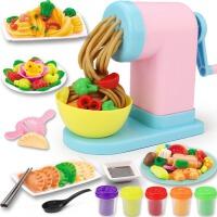 儿童橡皮泥模具工具套装轻粘土彩泥手工面条机厨房玩具女孩