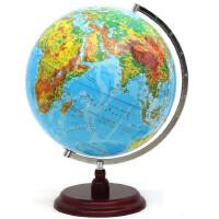 地球仪 精峰32CM 地形地貌 教学地球仪 木底座