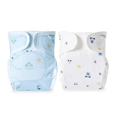 全棉时代 婴儿纱布复合隔尿裤2件装
