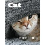 预订 Cat Notebook: Writing Notes, Jotter, 120 Blank Lined Pag