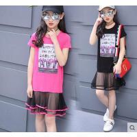 百搭童装女童户外新款儿童公主连衣裙韩版时尚大童女装11岁15女孩裙子休闲