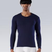 男士内衣上衣纯棉秋衣薄款中领打底单件棉毛衫全棉中老年保暖XJS105