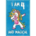 预订 Unicorn B Day: I am 4 & Magical Unicorn birthday four Ye