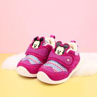 【119元任选2双】迪士尼童鞋宝宝学步鞋婴童男孩女孩冬季加绒保暖 HS0631