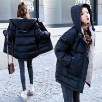 孕后期韩版宽松大码加厚短款棉袄 冬季孕妇棉衣外套