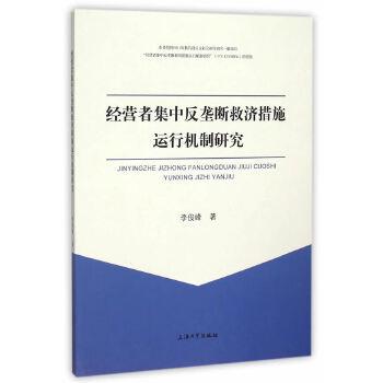 经营者集中反垄断救济措施运行机制研究