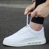 Galendar男子板鞋2017新款厚底增高小白鞋轻便百搭休闲帆布板鞋 QDG78