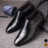 宜驰 EGCHI 男士套脚一脚蹬商务休闲男士皮鞋子 K99779