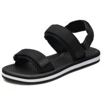 凉鞋 男士露趾大码情侣罗马沙滩鞋男式2019夏季新款防滑耐磨纯色休闲凉拖鞋