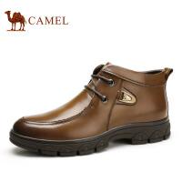 camel 骆驼男靴 商务休闲皮靴 秋冬新款保暖靴子男