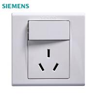 西门子开关插座品宜雅白一开16A空调插座面板
