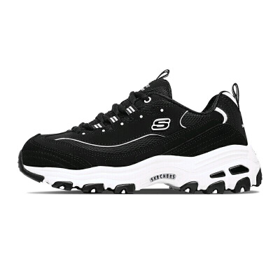 【*注意鞋码对应内长】Skechers斯凯奇女鞋新款官方休闲运动鞋增高熊猫鞋老爹鞋13148 时尚黑白色搭配;简单大方