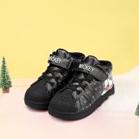 【99元任选2双】迪士尼童鞋女童男童冬季休闲鞋保暖加绒小童中童 S73520