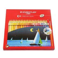 秘密花园 填色施德楼LUNA 48色水溶彩铅 红盒水溶彩色铅笔 内送画笔137C48