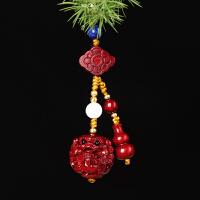 印度小叶紫檀木雕貔貅汽车挂件红木雕刻家居钥匙挂饰工艺品