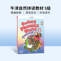 进口英文原版Oxford Phonics World 5牛津自然拼读教材 英文拼读规则学习 4-8岁