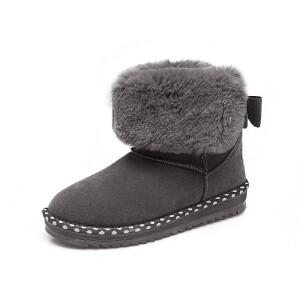 O'SHELL欧希尔新品113-X966韩版磨砂绒面女士雪地靴
