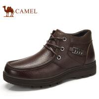 camel骆驼  冬季新款牛皮商务休闲皮靴潮流男靴
