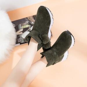 O'SHELL欧希尔新品115-D-7310休闲磨砂绒面女士雪地靴