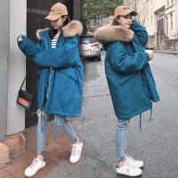 中长款棉袄大码宽松棉衣冬装孕妇孕后期韩版秋冬外套
