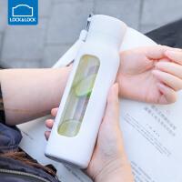 乐扣乐扣耐热玻璃水杯隔热户外学生运动健身防漏暖手
