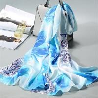 杭州丝绸 丝巾女士 围巾妈妈百搭夏季长款防晒披肩女