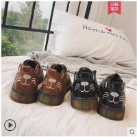 chic女鞋黑色英伦风复古小皮鞋jk日系网红同款软妹学生单鞋