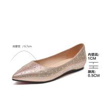 2019珂卡芙新款【显白显瘦】网红时尚亮片女鞋精巧气质女单鞋