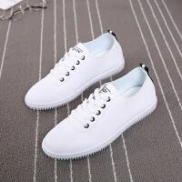 春秋季新品小白鞋女百搭韩版学生平底白鞋运动帆布女板鞋潮