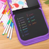 儿童反复书写可擦便携绘画本学生涂鸦画画双面小黑板水彩粉笔画板