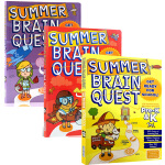 Summer Brain Quest Between Pre-k K-1 1-2 三册 大脑任务 假期练习册 英文原版