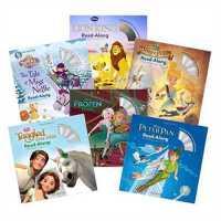 Disney迪斯尼原版有声读物 冰雪奇缘+狮子王+彼得潘 (6本书+配套CD)