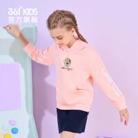 361度童装 女童长袖套头卫衣2021年春季新品中大童儿童运动休闲上衣N62113302