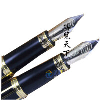 德国公爵金笔 世纪先锋14K金 美工笔 书法弯头钢笔