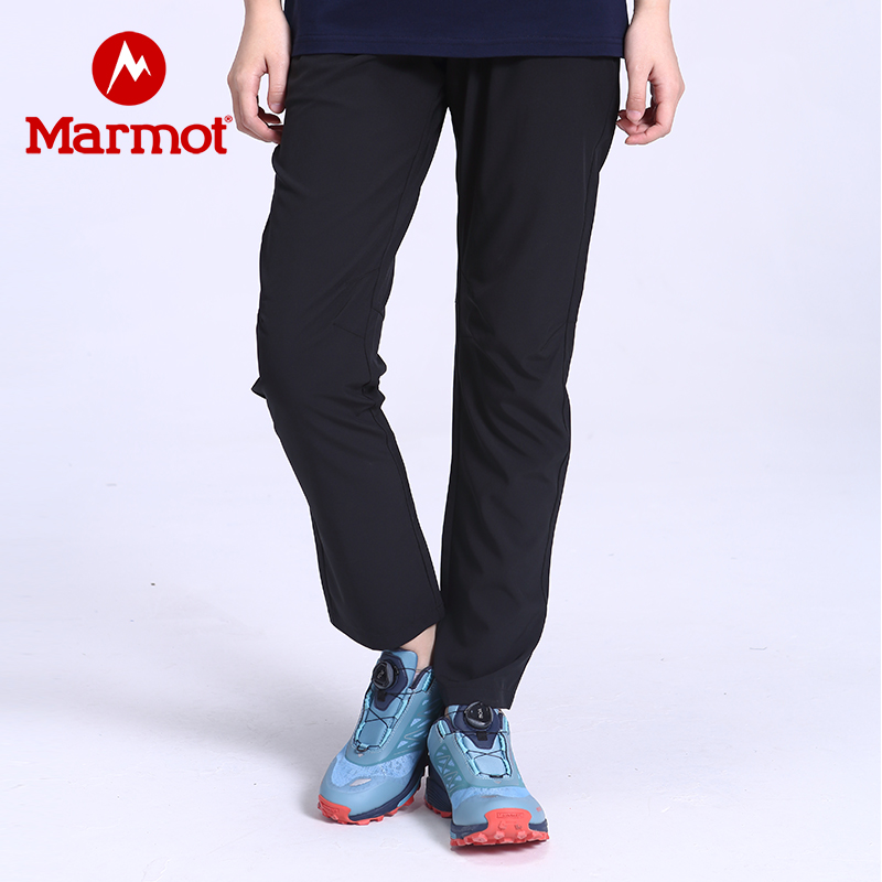 Marmot/土拨鼠2020春夏新款户外运动女式弹力舒适速干长裤 VIP专享96折