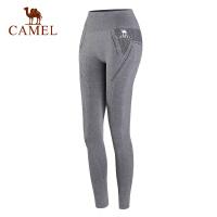 camel骆驼运动服针织长裤 女款高腰健身健美瑜伽运动长裤