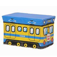 博纳屋 多功能小号收纳凳 长方形沙发储物凳 儿童玩具收纳箱 蓝黄B47-22