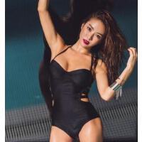 新款女泳衣三角连体后背镂空性感时尚钢托聚拢温泉泳衣 支持礼品卡
