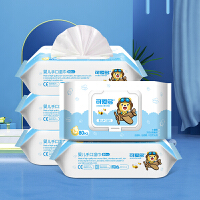 可爱多婴儿湿巾80抽*5包+送10抽*10包