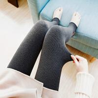 时尚款冬季加绒加厚裤子棉裤内穿孕妇打底裤春秋季外穿长裤