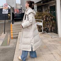 中长款大码棉衣宽松怀孕期孕后期孕妇装秋冬款外套