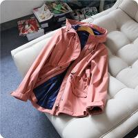 新女士外套九家春秋新款防水风衣女士中长款运动休闲冲锋衣外套