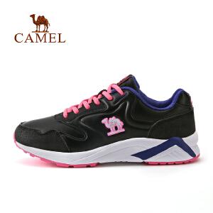 camel骆驼情侣款运动鞋 男女低帮休闲系带缓震跑鞋