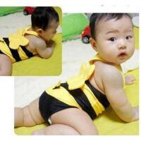 可爱蜜蜂 温泉 泳衣儿童泳衣 男女童通用 童游泳衣+泳帽 支持礼品卡