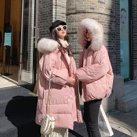 冬季韩版宽松外套孕后期秋冬装孕妇棉衣大毛领冬装棉袄